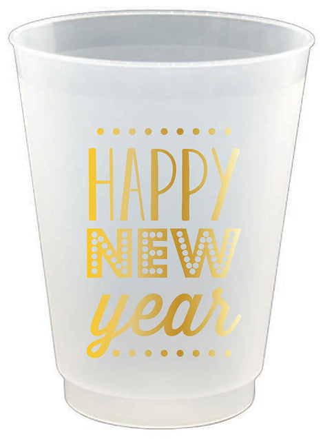 Happy New Year Frost Flex Cups - 8pk