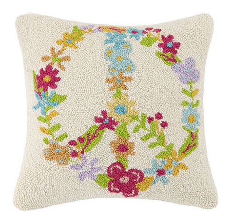 Floral Peace Hook Pillow