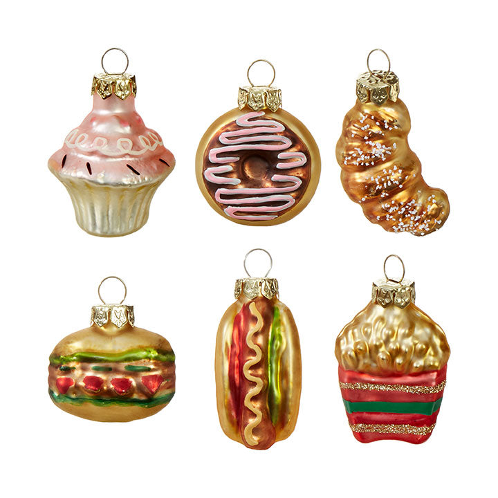 Glass Food Ornaments