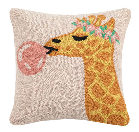 Giraffe Bubble Gum Hook Pillow
