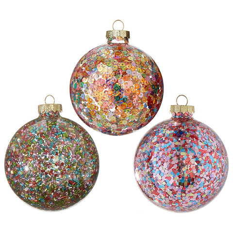 Sprinkle, Confetti & Sequin Ornament Trio