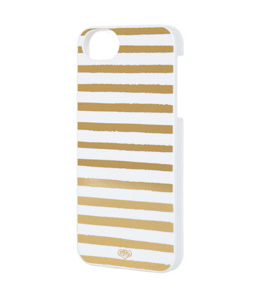 Gold Stripes iPhone 5 & 5s Case