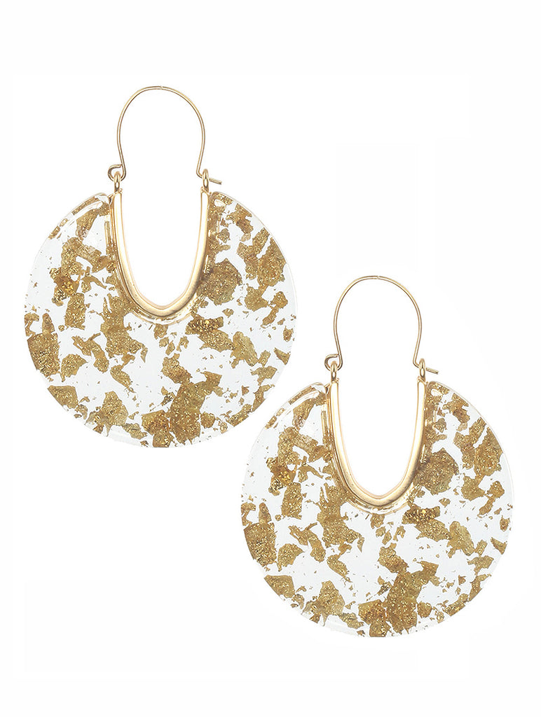 Liz Gold & Clear Acrylic Earrings