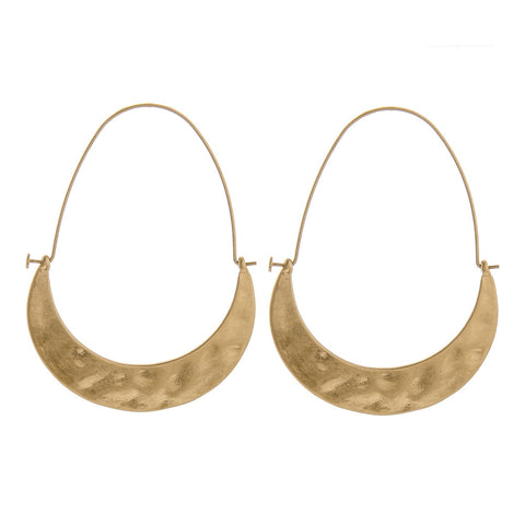 Sonny Gold Crescent Hoop Earrings