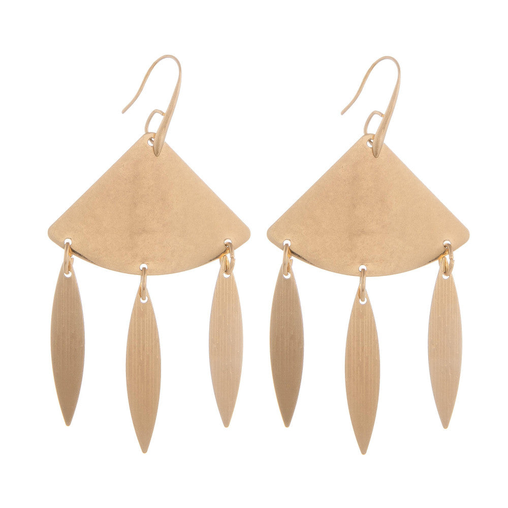 Kayla Gold Dangle Earrings