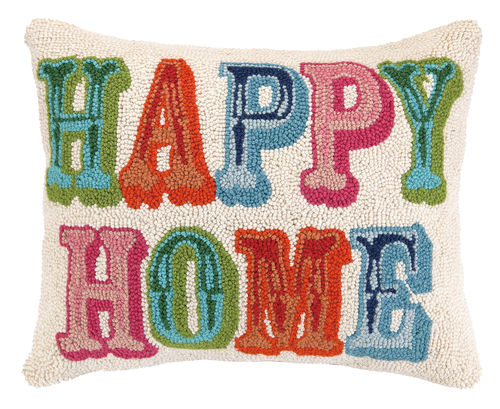 """Happy Home"" Hook Pillow"