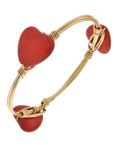 Red Heart Wrapped Bracelet