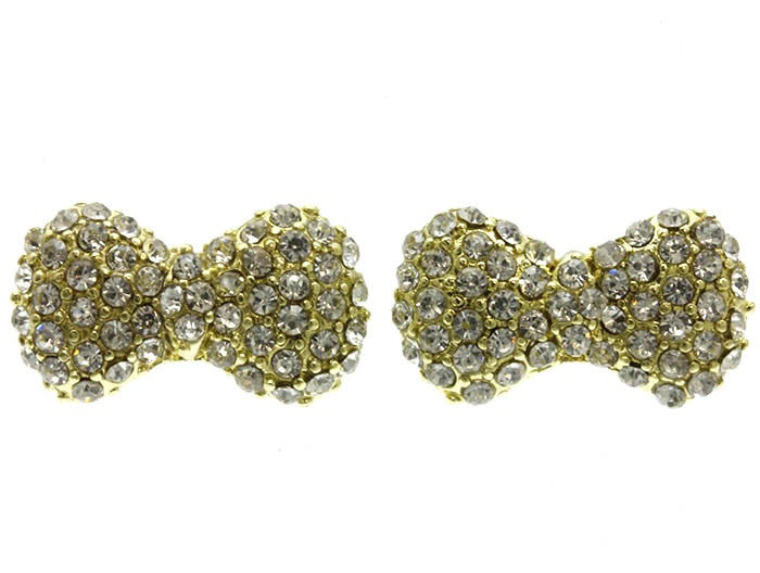 Small Pave Bow Studs
