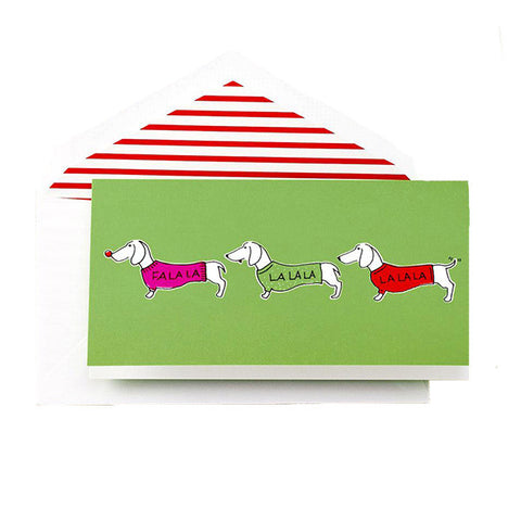 Kate Spade Greeting Card - Singing Daschunds