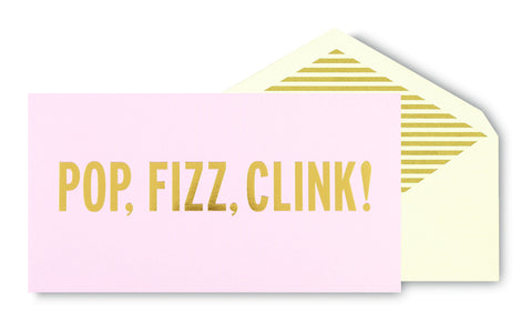 Kate Spade Greeting Card - Pop Fizz Clink