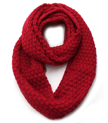 Pebble Infinity Scarf - Red