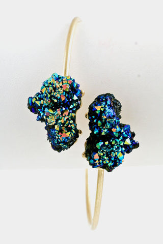 Crackle Druzy Bracelet - Blueish