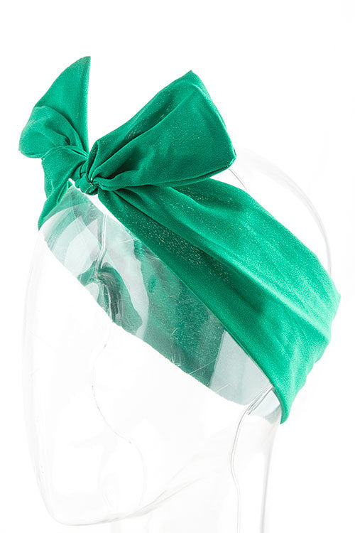 Green Wired Ribbon Headband