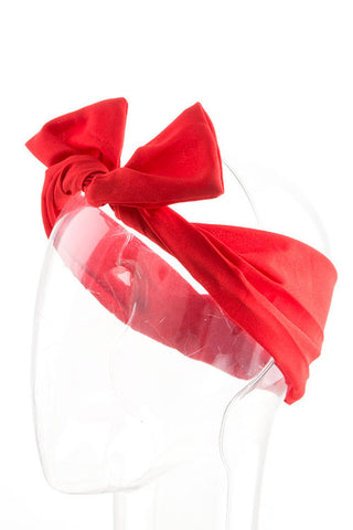 Red Wired Ribbon Headband