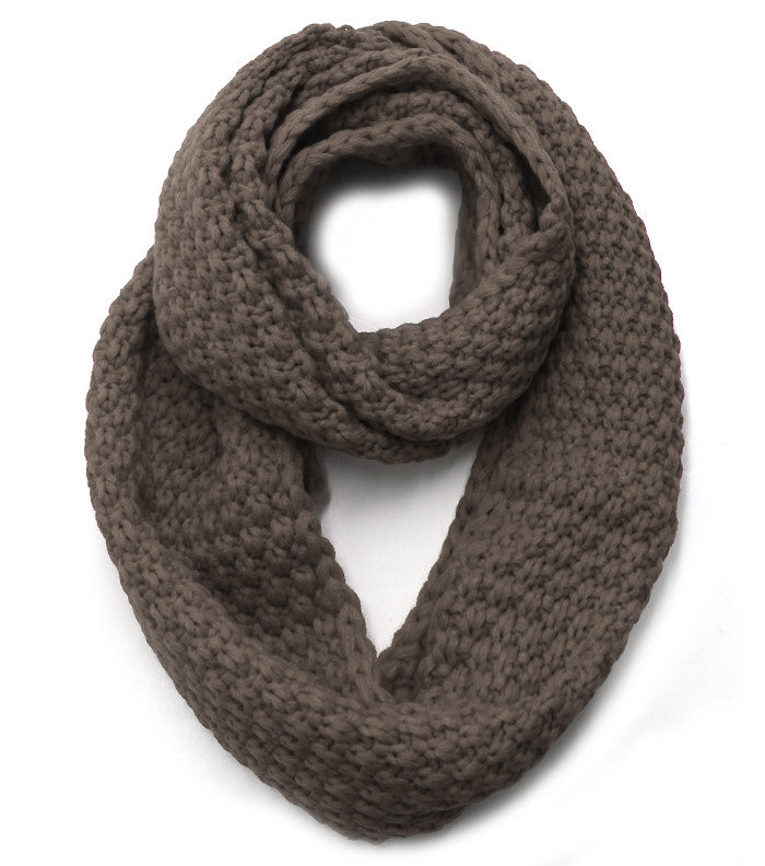 Pebble Infinity Scarf - Dark Taupe