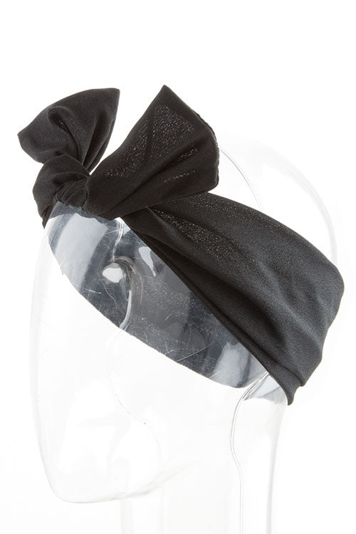 Black Wired Ribbon Headband