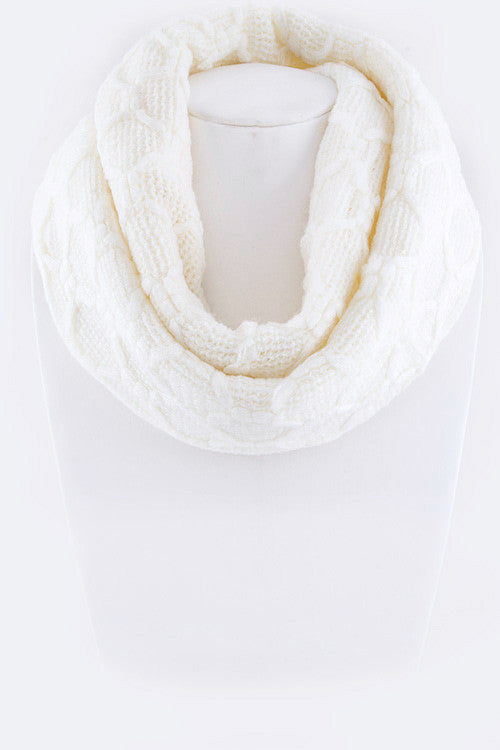 Sweet Trails Infinity Scarf - Ivory