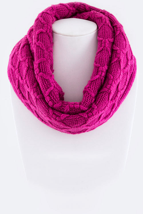 Sweet Trails Infinity Scarf - Magenta