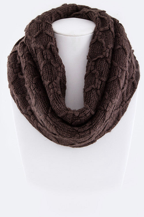 Sweet Trails Infinity Scarf - Brown