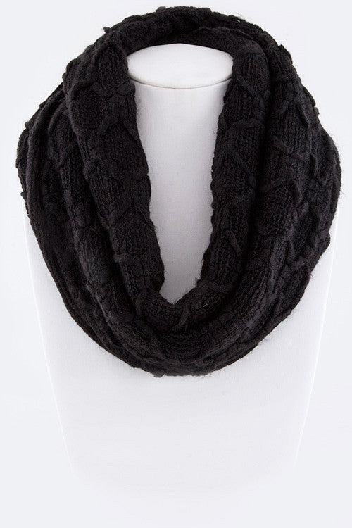 Sweet Trails Infinity Scarf - Black