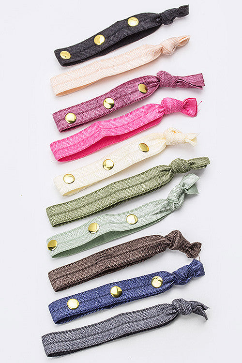 Studded Hair Ties