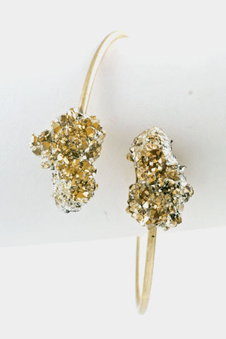Crackle Druzy Bracelet - Gold