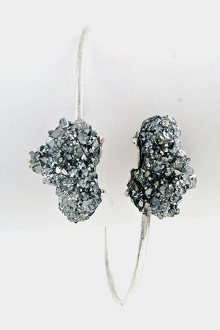Crackle Druzy Bracelet - Platinum