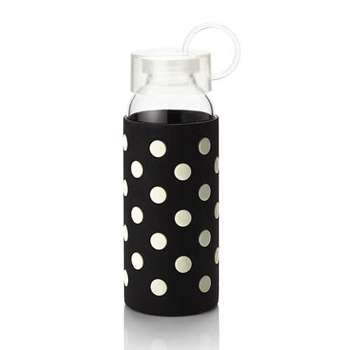 Kate Spade Water Bottle - Black Dots