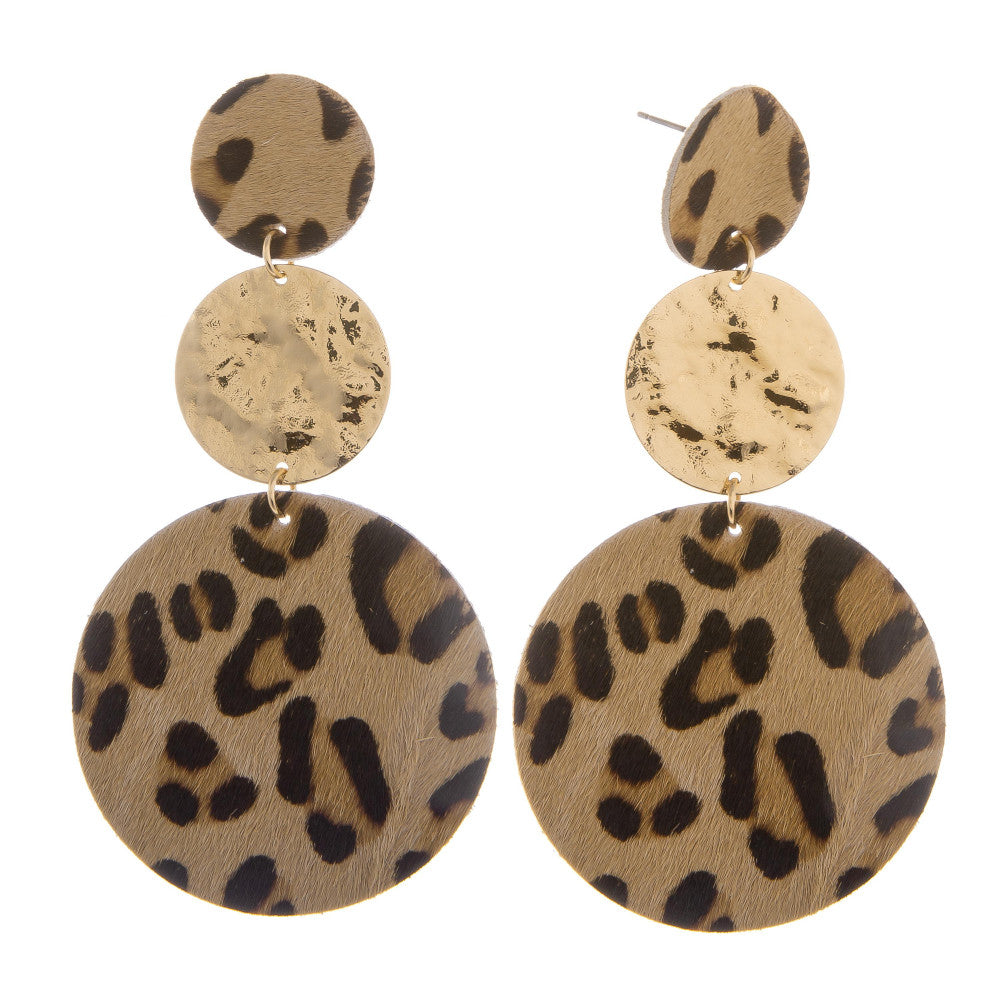 Gracie Leopard Earrings