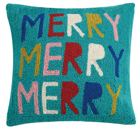 Merry Merry Merry Hook Pillow