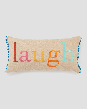 Laugh Pom Pom Pillow