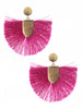 Steph Pink Fringe Earrings