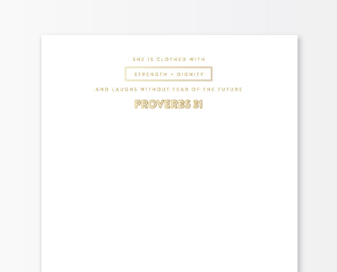Gold Foil Notepad - Proverbs 31