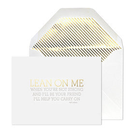 Lean On Me Card