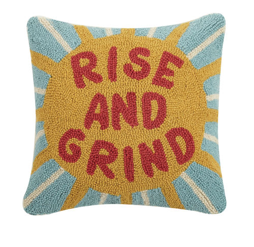 Rise & Grind Hook Pillow