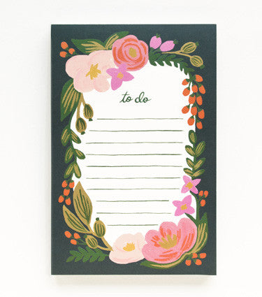Floral To-Do Notepad