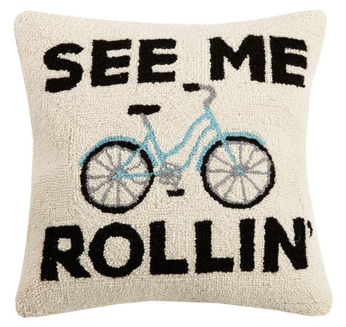 See Me Rollin' Hook Pillow