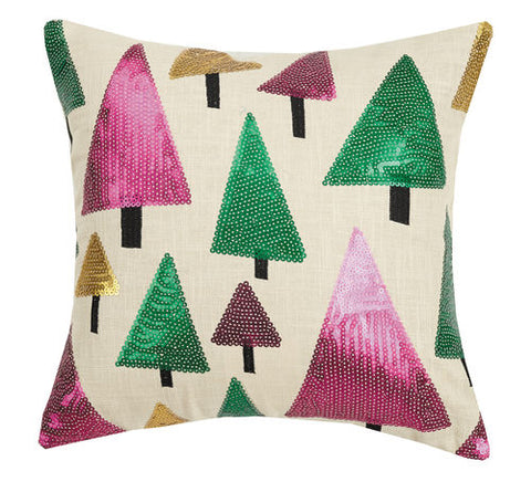 Sequin Christmas Tree Pillow