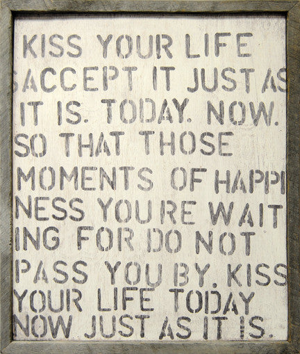 Kiss Your Life Art Print - Framed