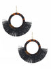 Toddy Tortoise & Black Fringe Earrings