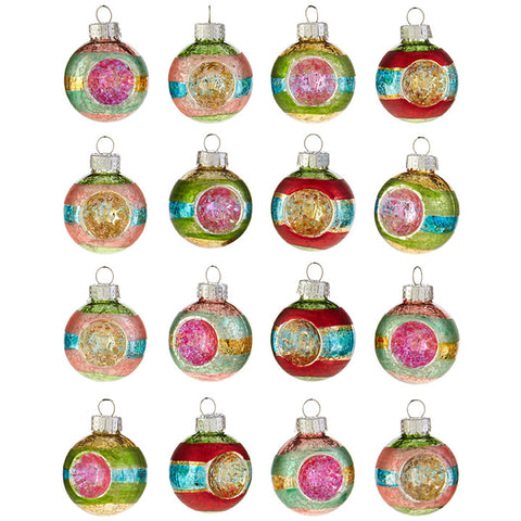 Vintage Ball Ornaments - Box of 16