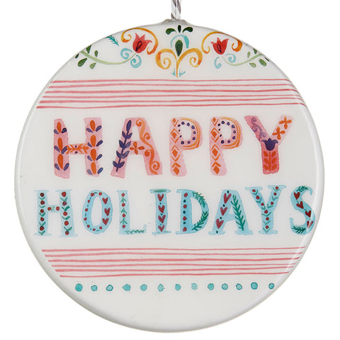 Happy Holidays Disc Ornament