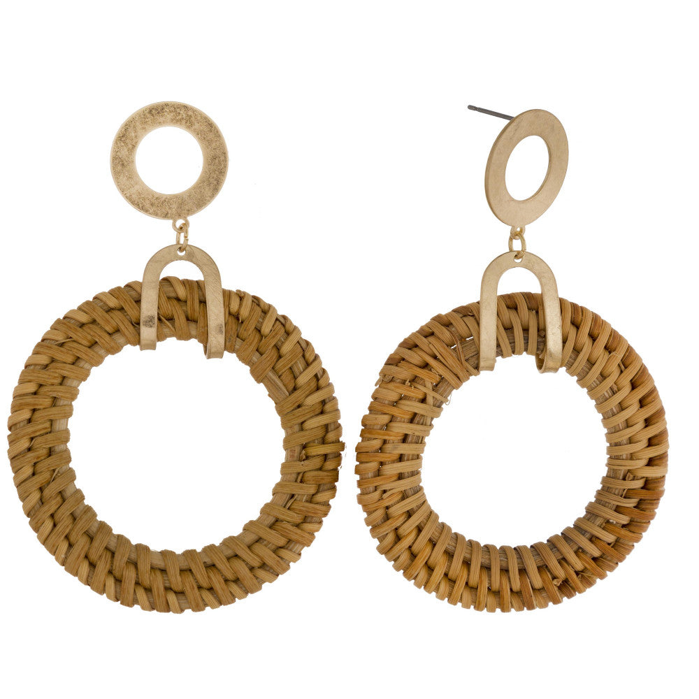 Brynn Wicker Dangle Earrings