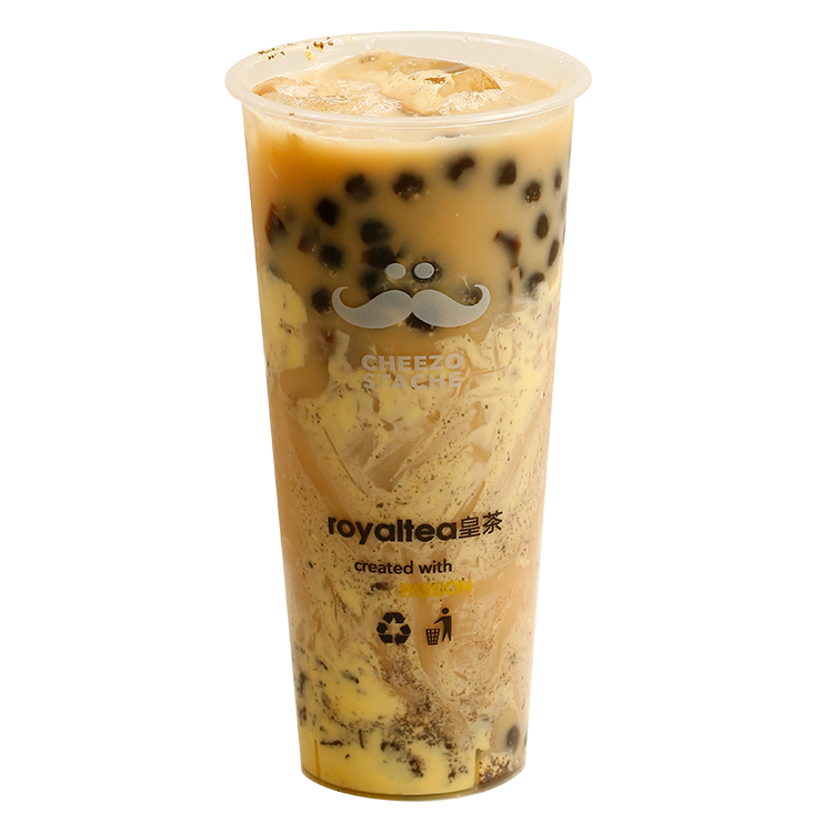 Custard Cake Oreo Milktea with Boba