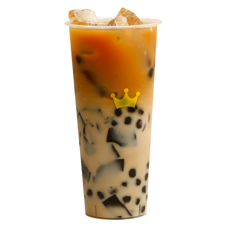Dragon Milktea with Boba and Grass Jelly