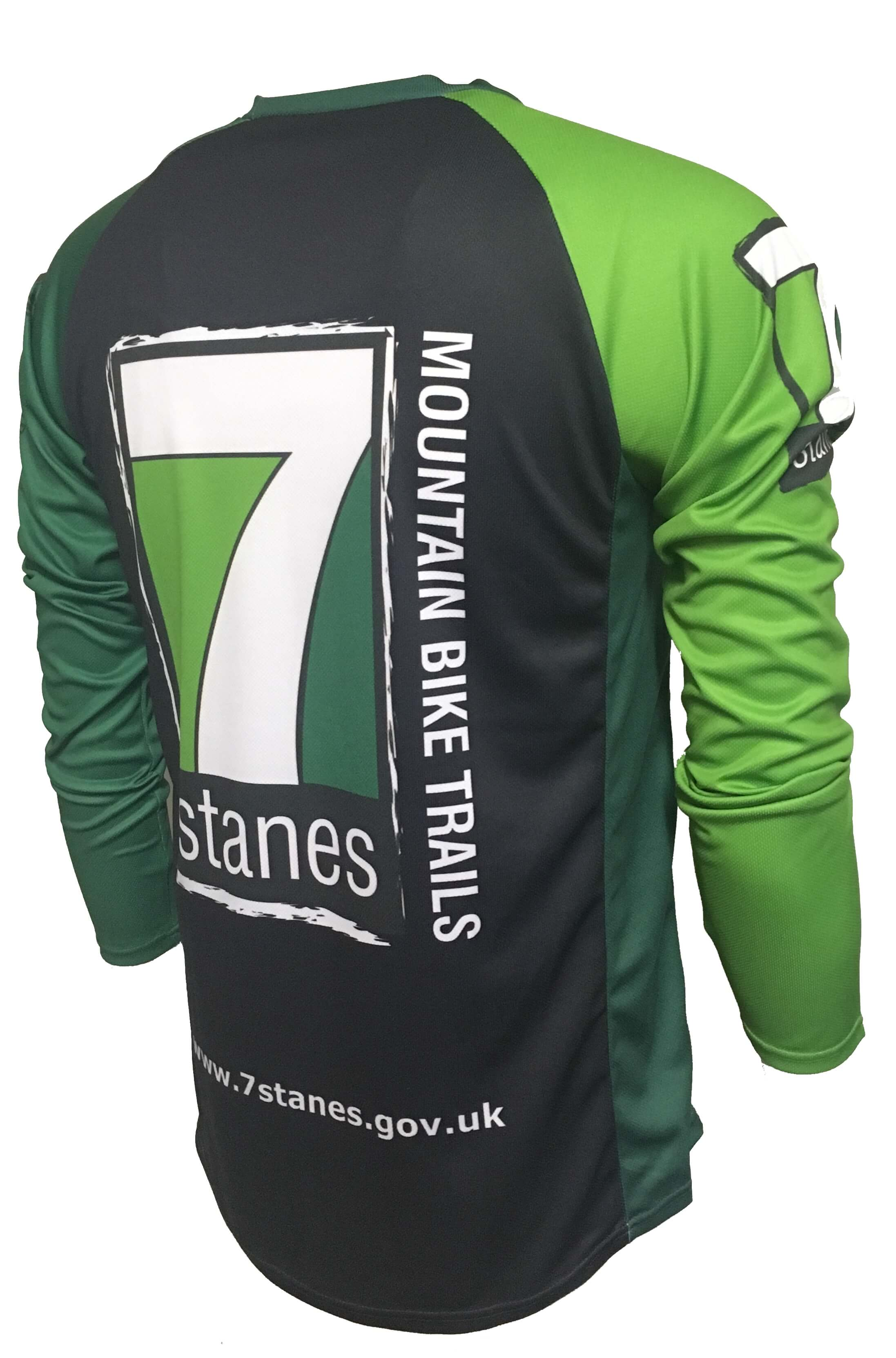 7stanes Enduro Cycling Jersey Back