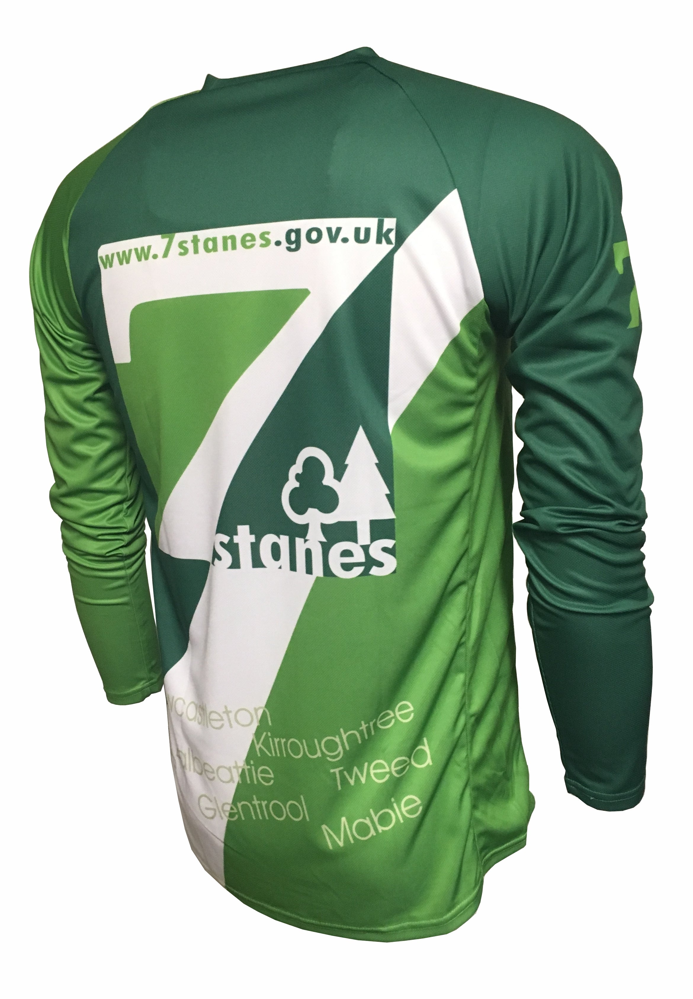 7Stanes Classic Enduro Cycling Jersey Back