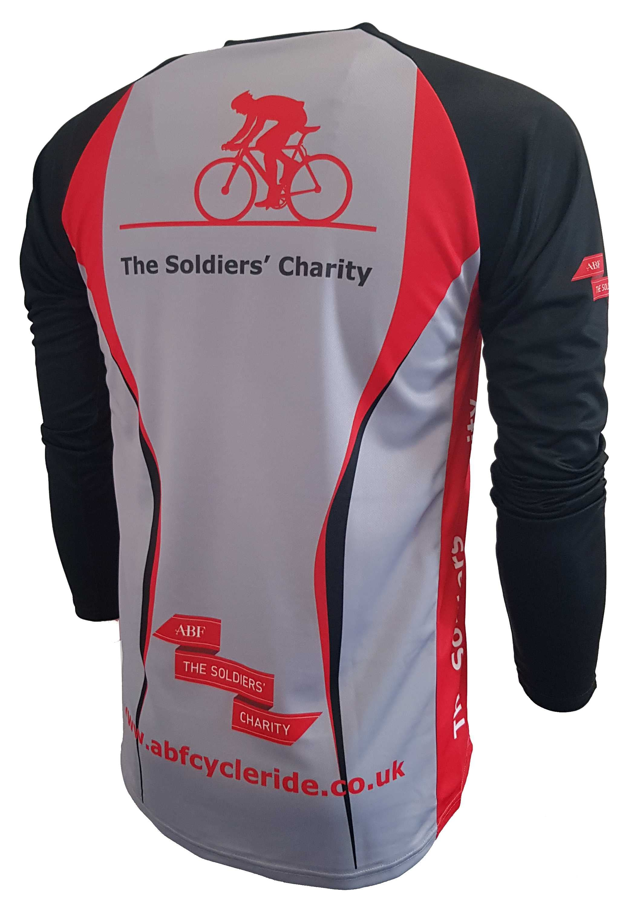ABF The Soldiers Charity Enduro Cycling Jersey Back