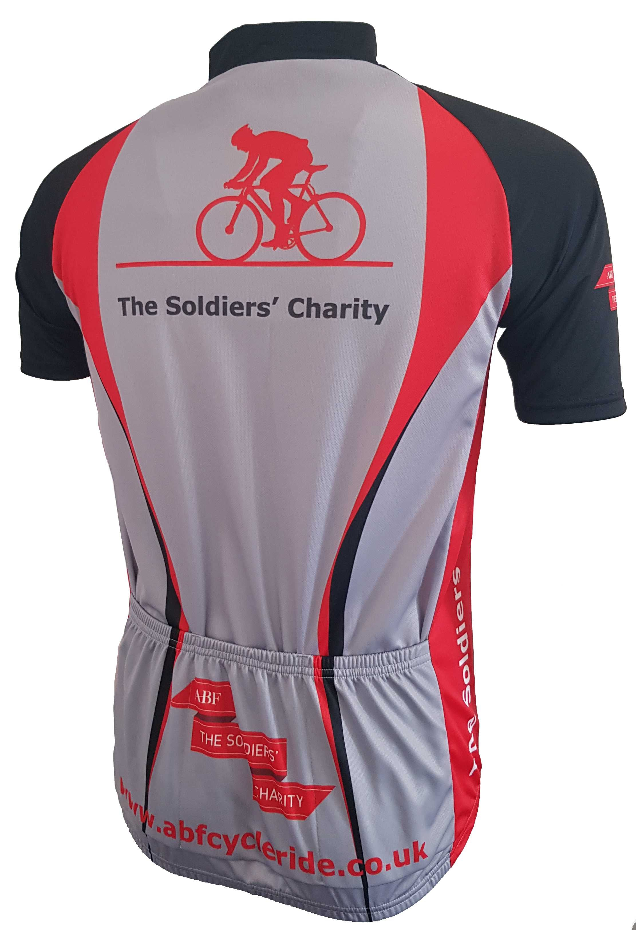 ABF The Soldiers Charity Road Cycling Jersey Back