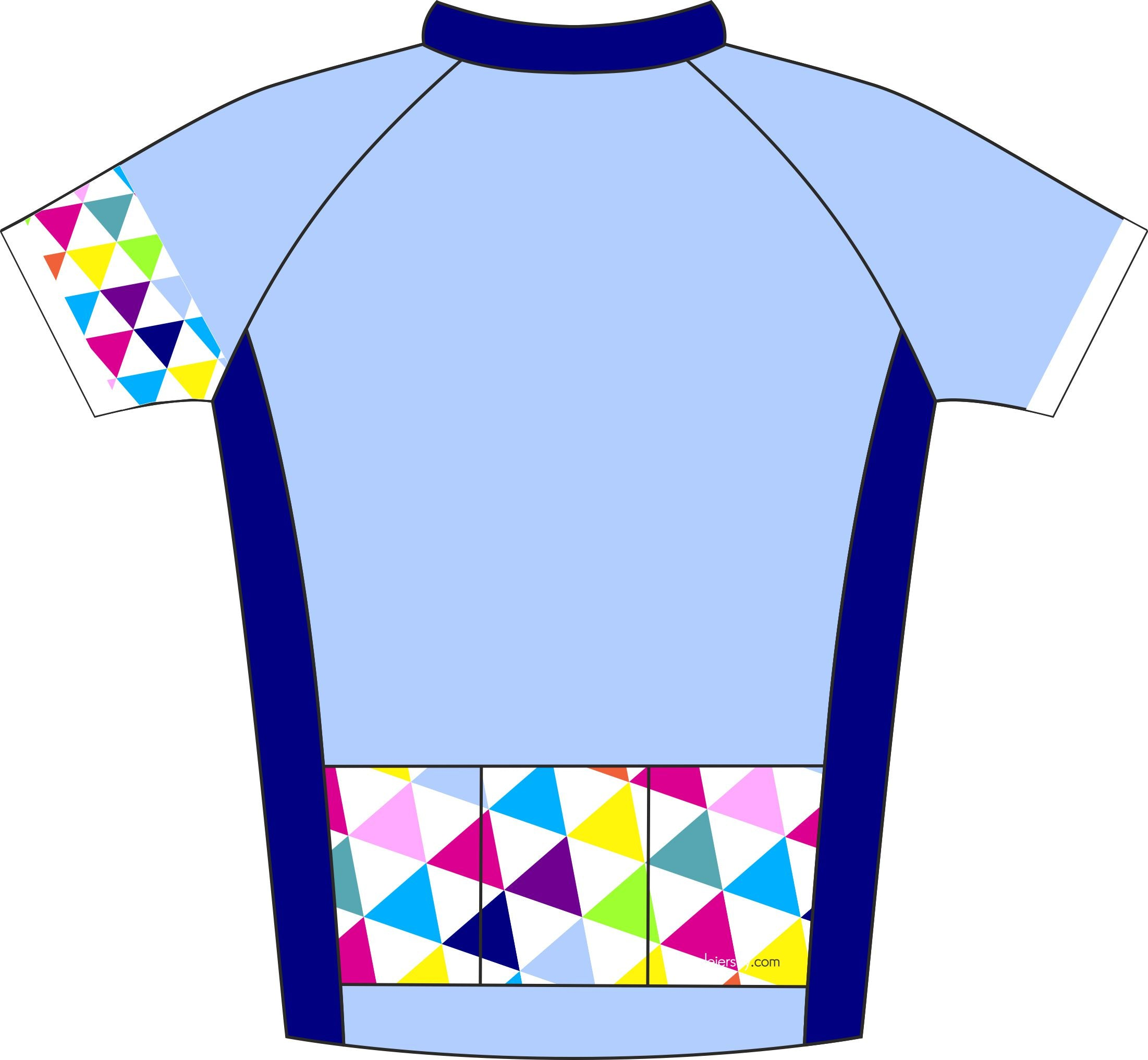 Alternative Triangle Blue Enduro Cycle Jersey Back